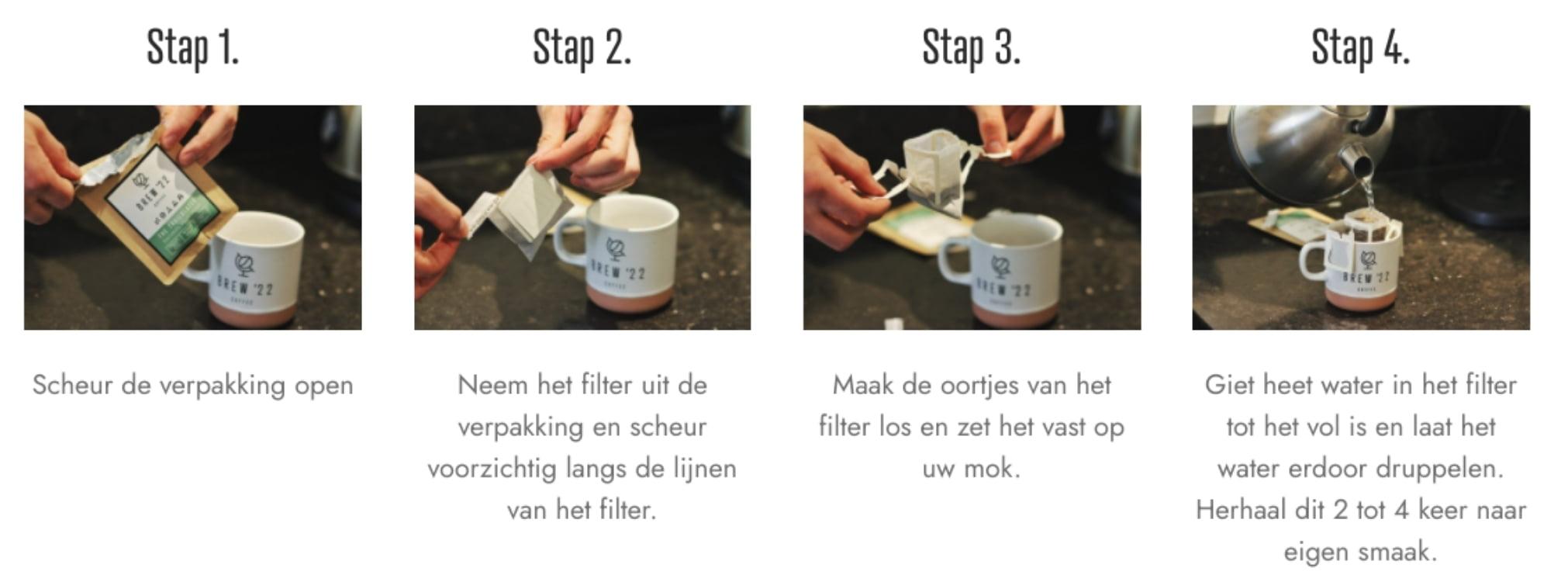 Hoe maakt je de koffie?